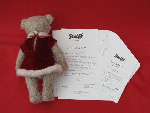 STEIFF Nounours Mme Noël Noël Mme Claus vanille 27 cm édition limitée avec certificat b759b4