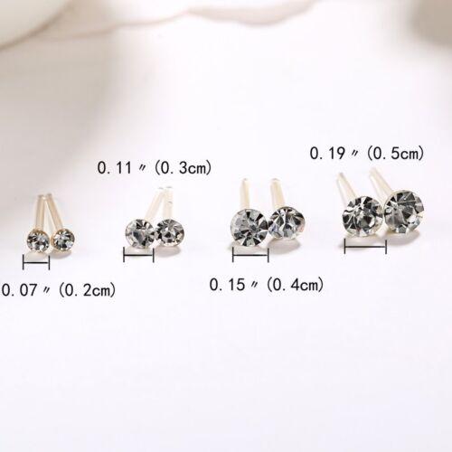 Wholesale 20Pairs//Set Rhinestone Crystal Plastic Round Earrings Studs Jewelry