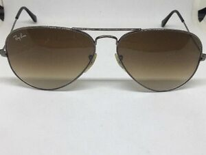 2452b7556c Ray Ban Aviator RB3025 004 51 Gunmetal Light Brown Gradient Lenses ...