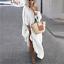 thumbnail 11 - Womens Oversize Long Sleeves Sloping Off Shoulder Loose Maxi Dress Fashion Plus
