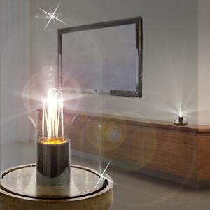 Leuchten & Leuchtmittel Mia Light Schirm Tisch Leuchte ↥320mm/ Klassisch/ Stoff/ Braun/ Textil/ Nacht La