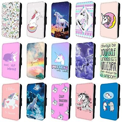 Unicorn Funny Quotes Flip Phone Case Cover For Samsung Galaxy S5 S6 S7 S8 S9 Cell Phone Accessories Cell Phones & Accessories