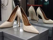 Cecille BNIB UK 6 Exquisite Stiletto Heels Patent Cream Leather Eve Shoes EU 39