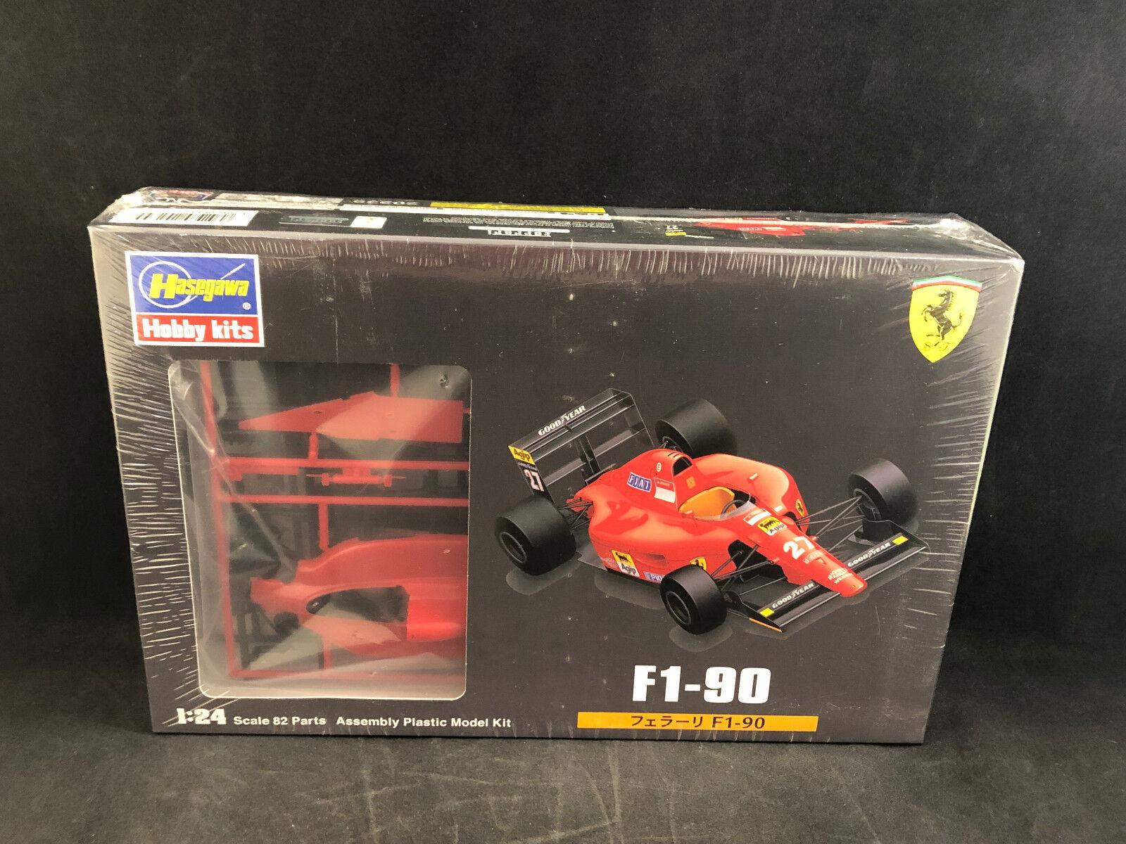 Hasegawa Ferrari F1-90 Race auto auto auto 1 24 Scale Plastic modello Kit 20239 nuovo in scatola 03373f