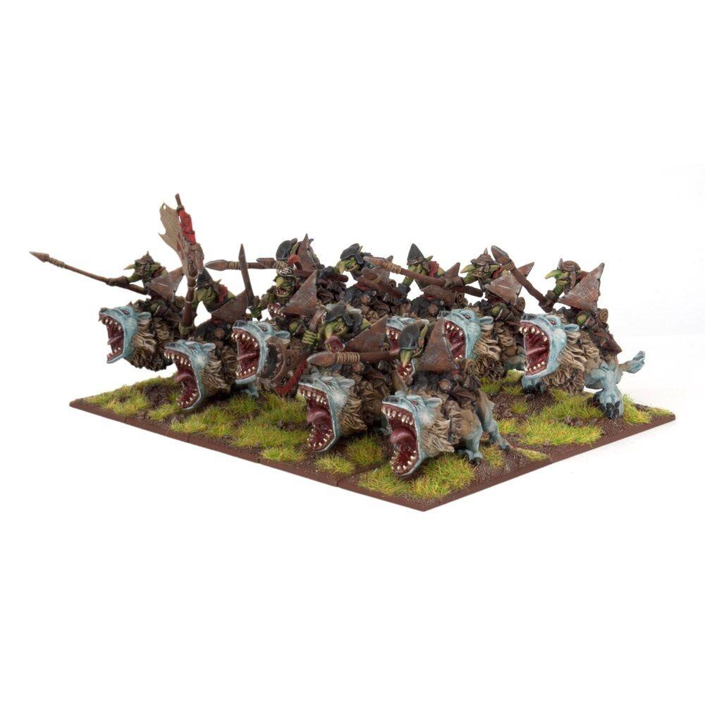 Kings of War Goblin Fleabag Riders (Mantic figures KWO24-1) free post