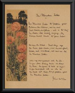 WWI-In-Flanders-Fields-John-McCrae-Reprint-On-Original-Period-Paper-Canada-P030