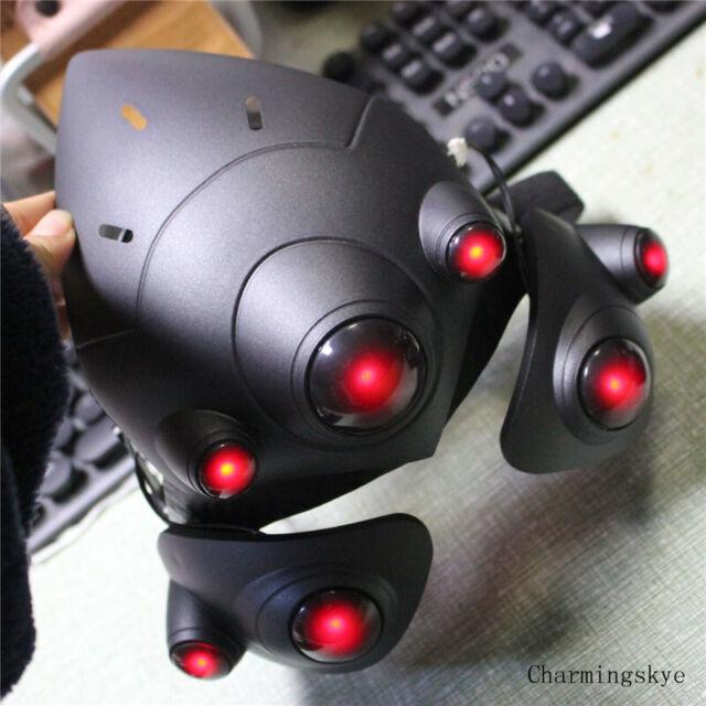 Overwatch Widowmaker cosplay Helmet Emily Rakova Black LED mask ow cos props