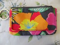 Vera Bradley Jazzy Blooms Tissue Case Holder Magnetic Flap Key Ring