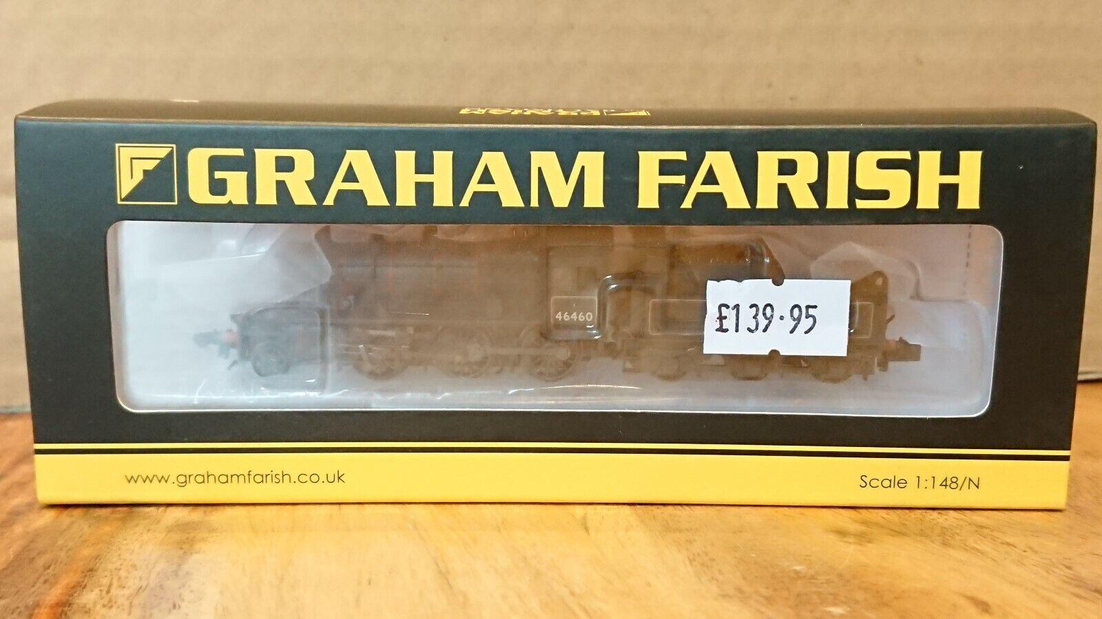 Graham Farish N Gauge 372-629 Ivatt Class 2MT 2-6-0 46460 BR Early 6DCC NEW