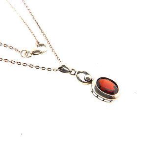 Sterling silver garnet pendant necklace chain 14 ct 75x18 inch image is loading sterling silver garnet pendant necklace chain 1 4 mozeypictures Image collections