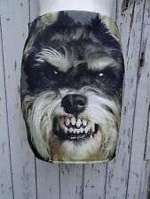 Yorkshire Terrier Mini Skirt - Size 12 14 - Bodycon Dog Fangs Animal Vintage Pug