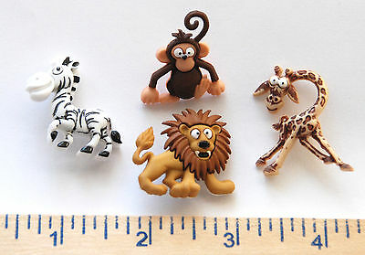 Jesse James Buttons ANIMALS BABY SAFARI 6962 ~ Zoo Animals Dress It Up