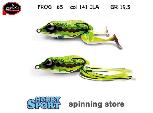 FROG 65 MOLIX  COLORE 141 ILA FROG SPINNING BLACK BASS
