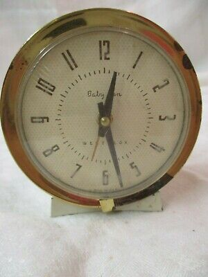 Vintage Westclox Baby Ben Cream Color Alarm Clock Model 61