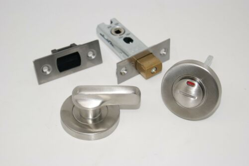 Disabled Bathroom Turn /& Release Privacy Lock Set Satin Stainless Steel