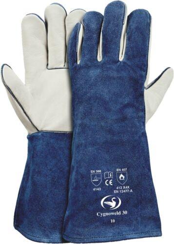 SCHWAN Schweißerhandschuh Cygnoweld 30 €10,99//Paar blau Größe 10