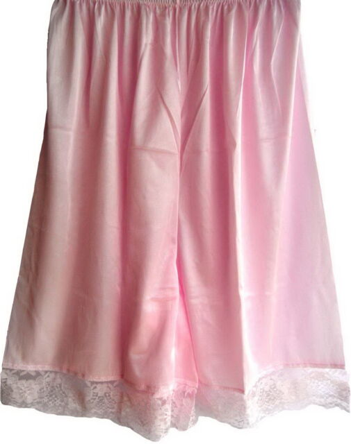 New PInk PETTIPANTS HALF SLIPS SHEER NYLON LACE LEGS PETTI SHORTS FOR WOMEN