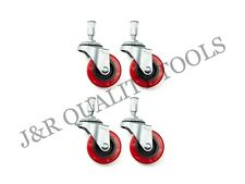 4 Pieces 2 Replacement Caster Wheel For Creeper Swivel Chrome Plated Mechanic