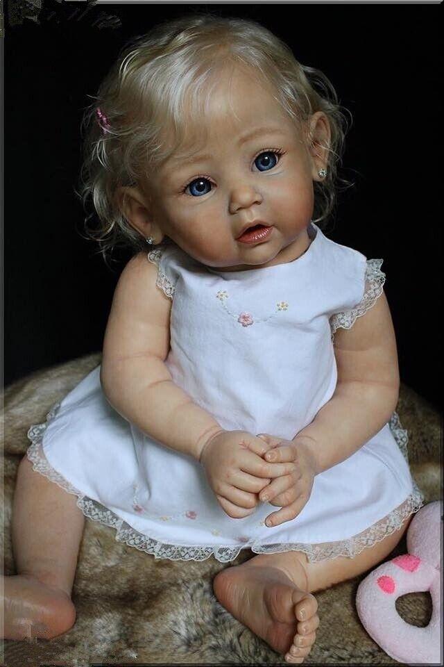 Realistic Lifelike Vinyl full body Silicone Reborn Baby Doll Handmade Gift Toy