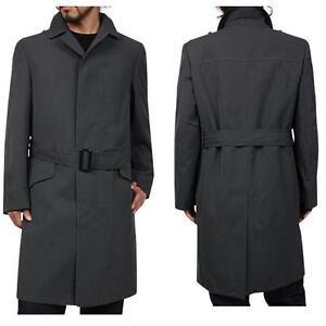 858c650ad7432 La imagen se está cargando Hombre-Vintage-Militar-Guisante-abrigo -gabardina-Reefer-Lluvia-