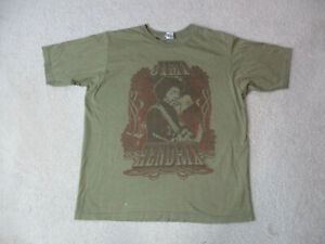 Jimi-Hendrix-Concert-Shirt-Adult-Large-Green-Red-Rock-Tour-Band-Music-Mens