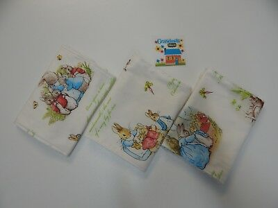 Traffic Jam Blue on White Burp Cloths x 3 Toweling Backed GREAT GIFT IDEA!!