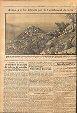 Earthquake Arpino provincia di Frosinone nel Lazio Italia Italy Italie WWI 1915