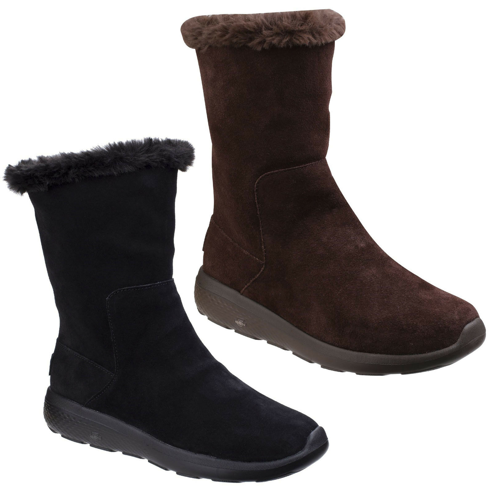 Skechers On The Go City 2 Appealing Boots Memory Foam Fashion Calf Shoes Womens
