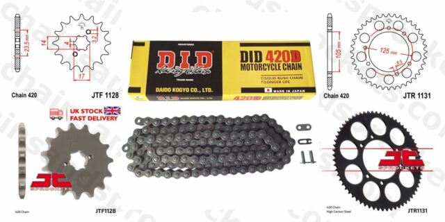 Derbi Senda 50 SM X-race 09-10 DID Chain Kit 11t 53t 420D 130