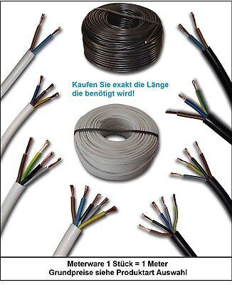 1,69€//m PVC-Schlauchleitung Kabel H03VV-F 3x0,75 mm² 3G0,75 braun