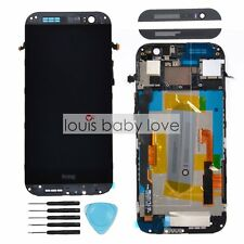 For Grey HTC ONE M8 LCD Display Touch Screen Digitizer With Frame Replacement UK