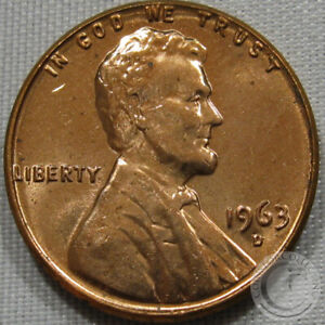 1963-D Lincoln Memorial Cent GEM
