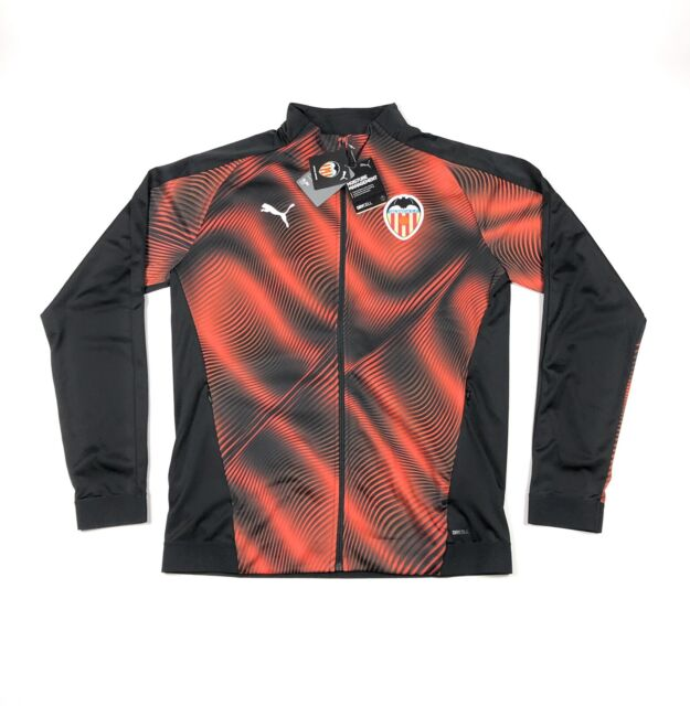 PUMA VCF Valencia Stadium Track Jacket Black Orange La Liga Slim ...