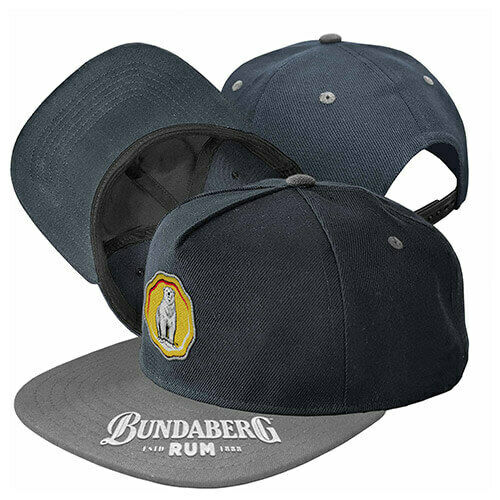 2019 Bundy Bundaberg Rum Embroidered Flat Peak Hat Cap Fathers Day Gift BUN1713