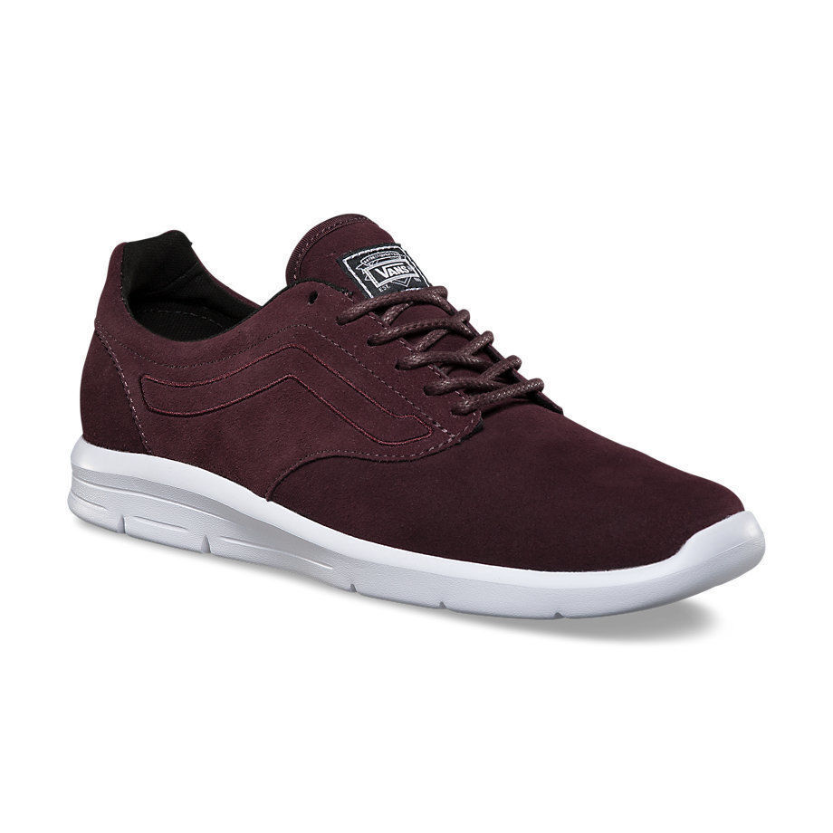VANS ISO 1.5 (Suede) Iron Brown/True White UltraCush Skate WOMEN'S SIZE 9