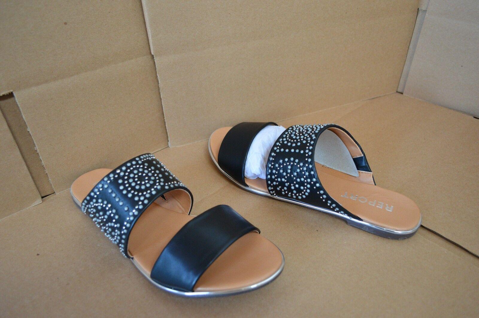 New Report Women's Chestyr Sandals Black Slip On Flat Sandals Chestyr b326ae