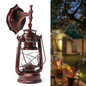 Rustic-Vintage-Lantern-Lamp-Industrial-Metal-Wall-Mount-Sconce-Light-Home-Metal