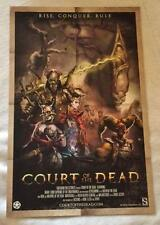 """COURT OF THE DEAD -11""""x17"""" Original Promo Poster SDCC 2014 Sideshow Collectibles"""