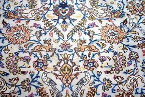 Persian-Tabrizz-silk-wool-handmade-hand-knotted-rug-animals-bird-240-x-170-cm