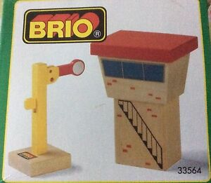 NEW BRIO Wooden Train Signal House with Semaphore 33564 Thomas Compatible