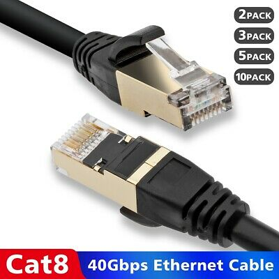 6FT-100FT Super Fast Cat 8 Cat 7 Cat 6 S//FTP Ethernet Network Cable 2GHz 40G Lot