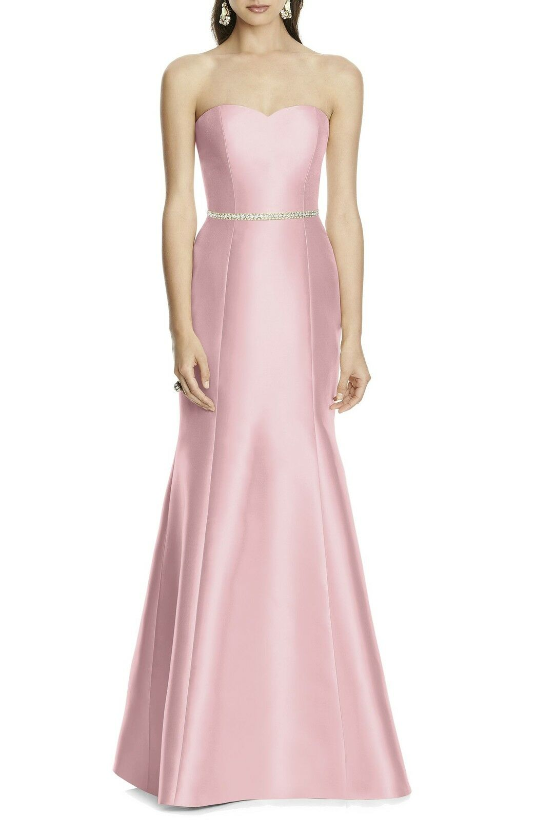 NEW ALFRED SUNG Strapless Sateen Trumpet Trumpet Trumpet MERMAID DRESS GOWN Size 4  220 BLOSSOM aa128a