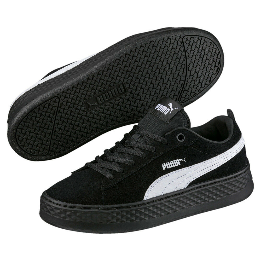 Puma Smash Platform SD schwarz 38.5 Damen Plateau Sneaker schwarz SD Suede NEU * 42bf59