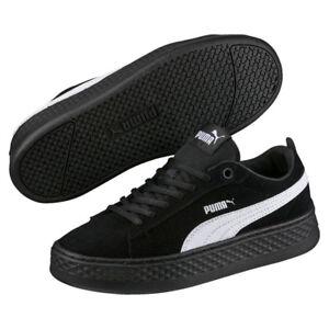 Puma-Smash-Plataforma-SD-40-5-Mujer-Plataforma-Zapatillas-Negro-ante-Nuevo