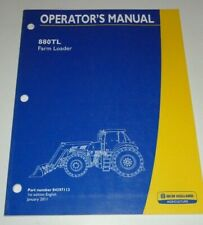 New Holland 880tl Loader Operators Manual 111 For T8275 To T8390 Tractors
