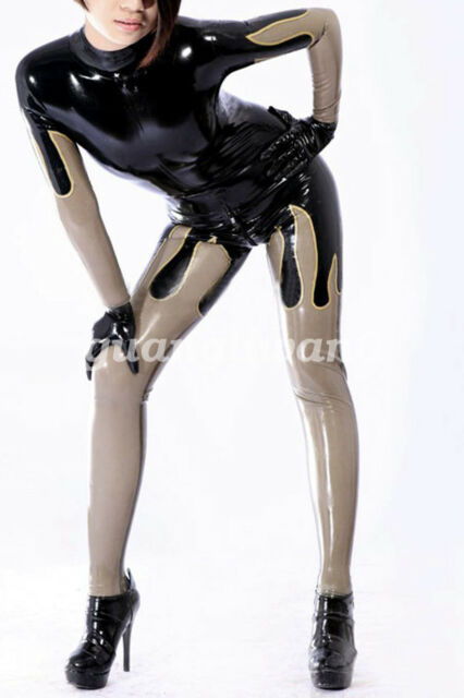 New 100% Latex Rubber Ganzanzug Suit Gummi Hood Catsuit All Size XXS-2XL
