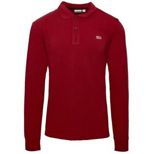 Napapijri-Taly-2-Long-Sleeve-Polo-Shirt-Pullover-Sweater-Red-N0YIX7R01
