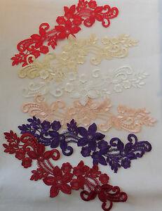 Dress-making-sewing-lace-applique-floral-applique-lace-motif-various-colours