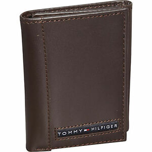 Tommy-Hilfiger-Mens-Brown-Leather-Cambridge-Trifold-Passcase-Wallet-in-Gift-Box