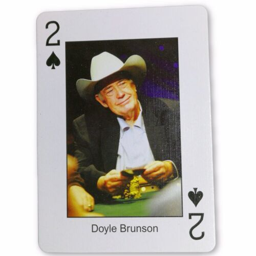 Doyle Brunson Pokers Most Wanted Poker Pro Playing Card 2 of Spades